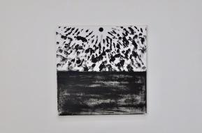 Noir aux mains - pigment sur toile